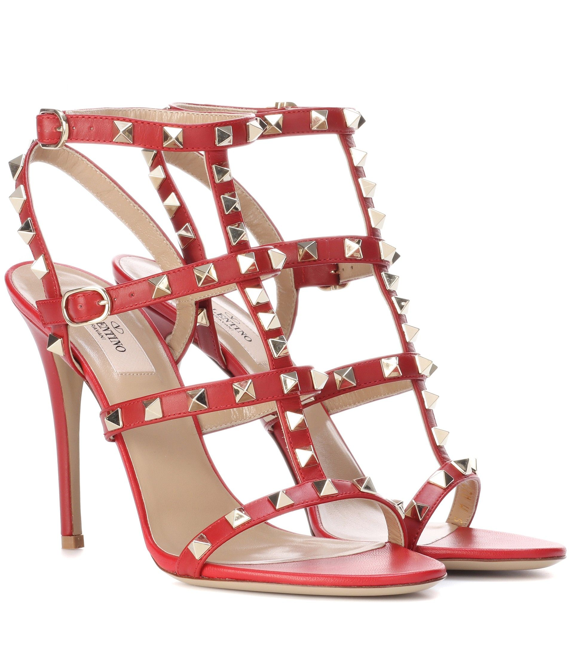 Valentino Garavani Rockstud sandals - Red Valentino Buy Cheap New Arrival Best Prices Cheap Online Good Selling Cheap Online Outlet Enjoy EBXQqm