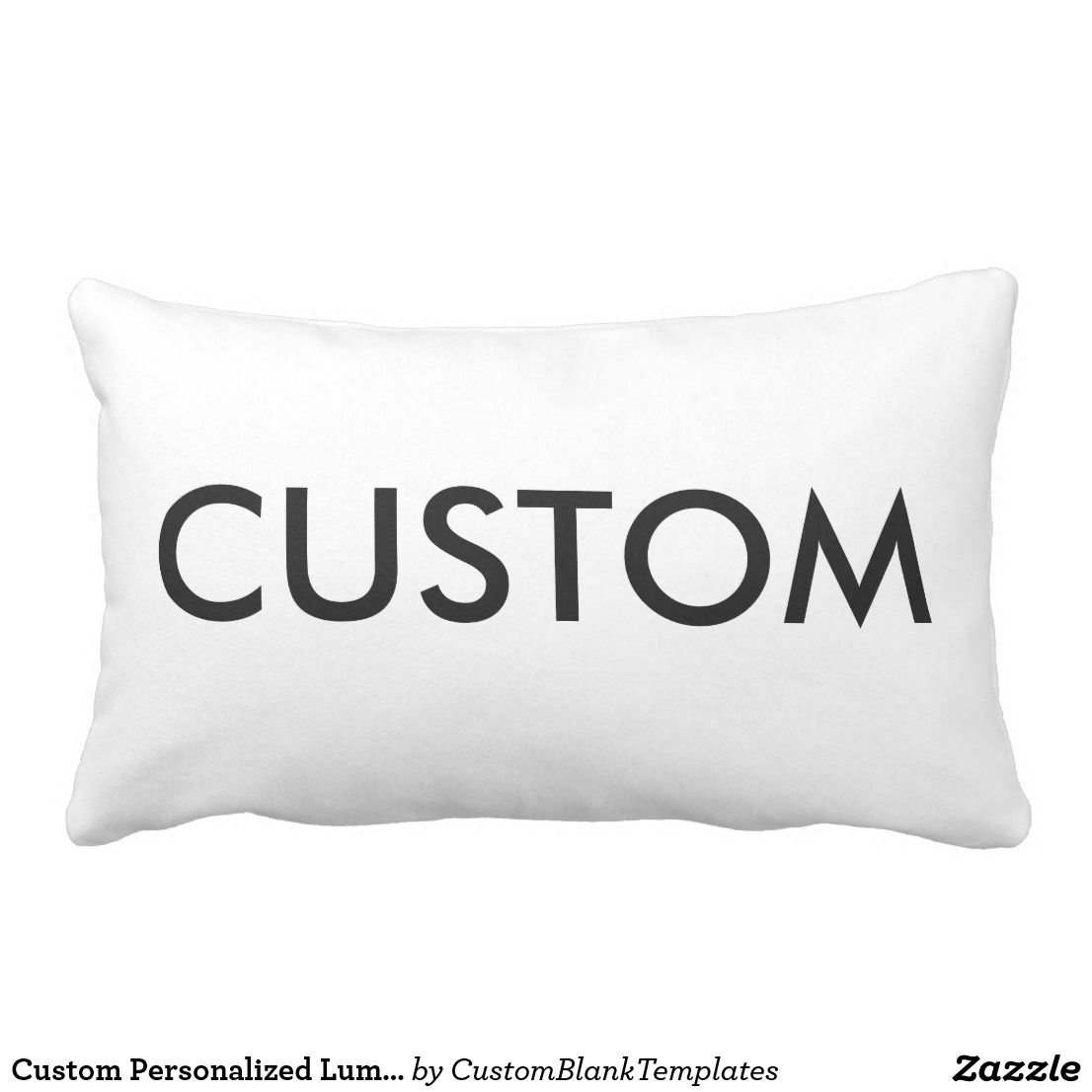 Design Your Own Exterior: Custom Personalized OUTDOOR POLY Lumbar Pillow