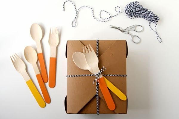 sweet estelle's baking supply: DIY Painted Wooden Forks & Spoons for Thanksgiving
