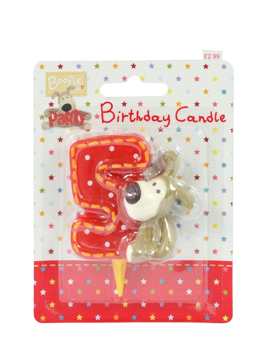 Boofle Birthday Candle - Number 5