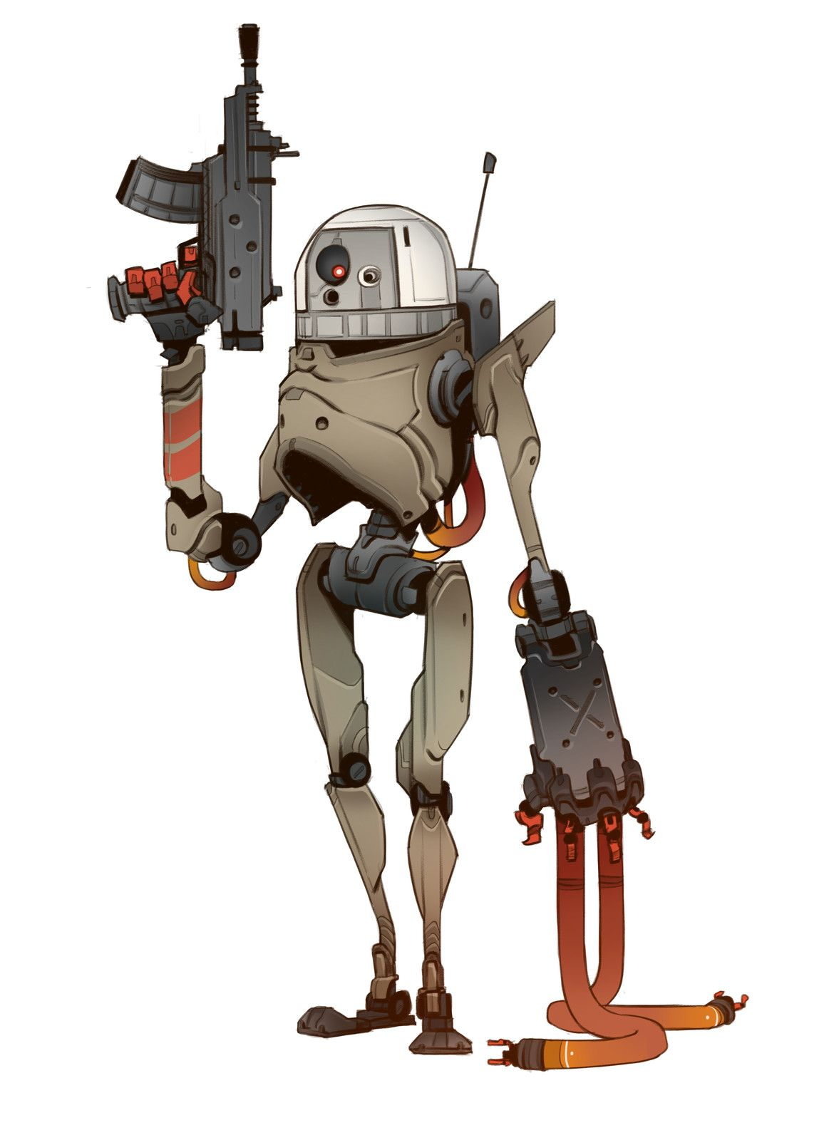 Battle Droid, Brother Baston on ArtStation at https//www