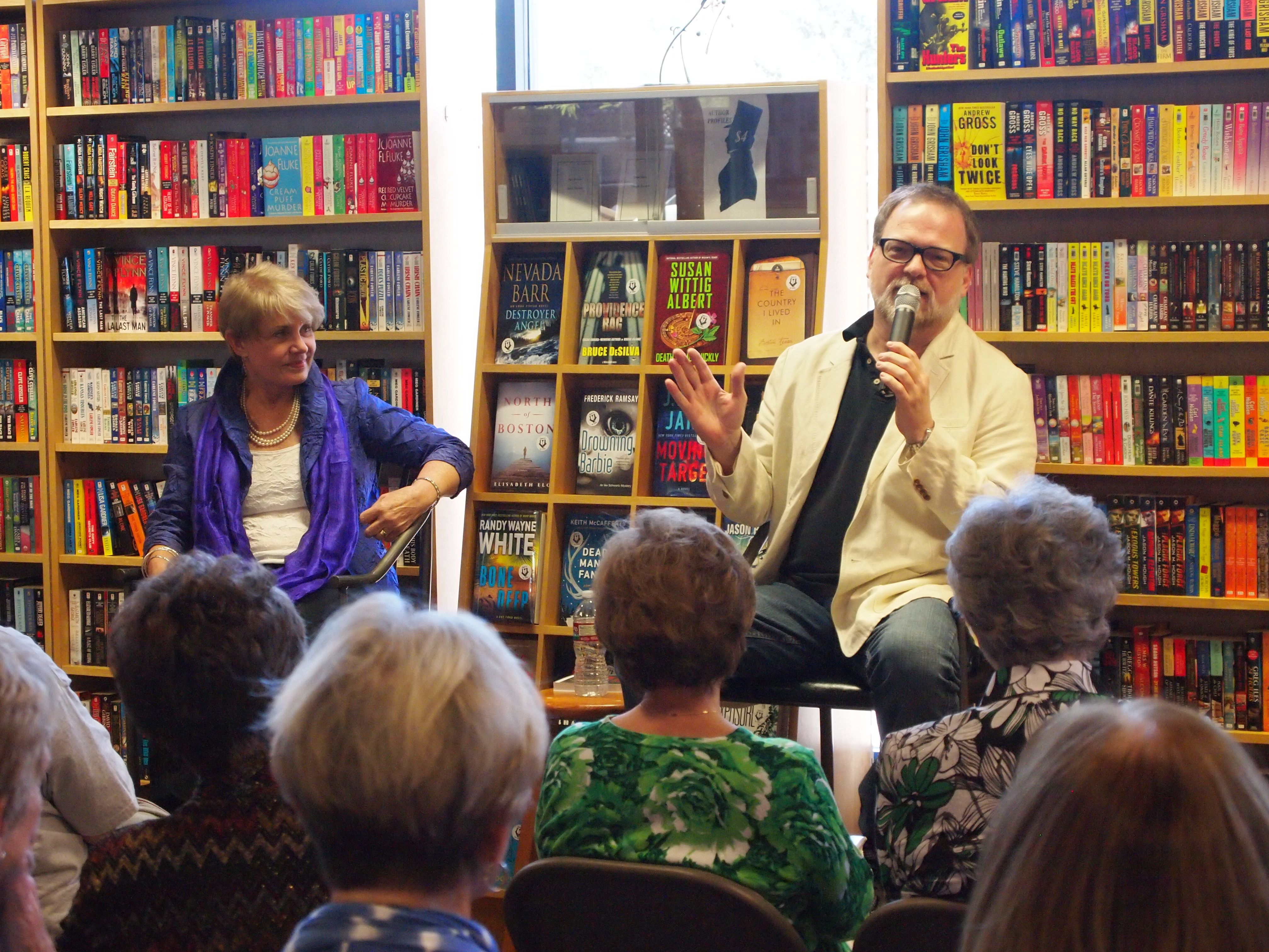 Greg iles may 2014 author event book launch author