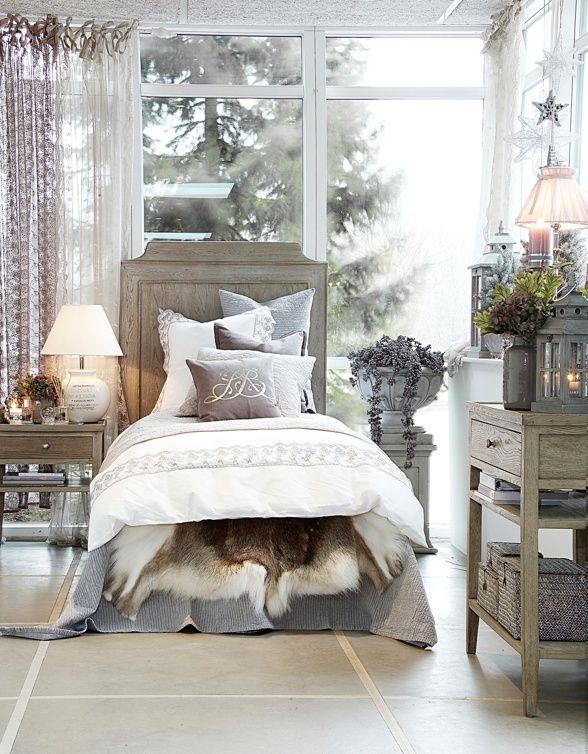 Ge ditt sovrum en ansikslyftning, harmoniska färger och mycket mys.