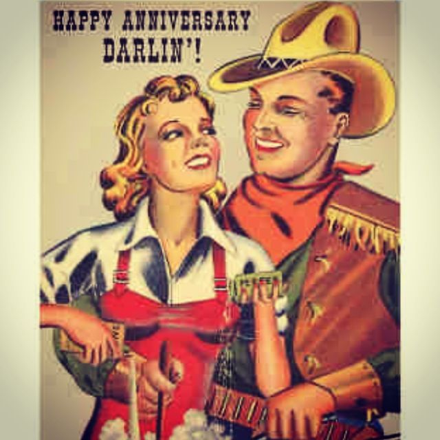 For My Wife Vintage Retro Anniversary Card Marriage Wedding Love Antique Cowboy And Cowgirl Vintage Cowgirl Cowgirl Art