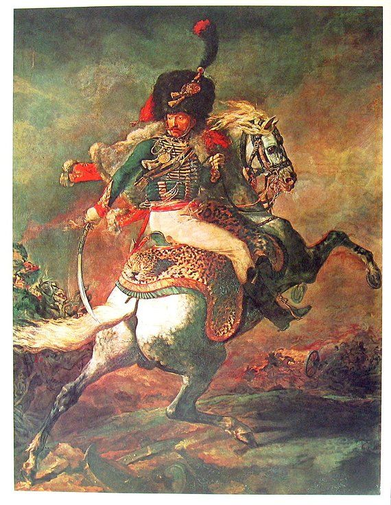 Large 12x15 Napoleon Bonaparte on Horse French Painting Real Canvas Art Print