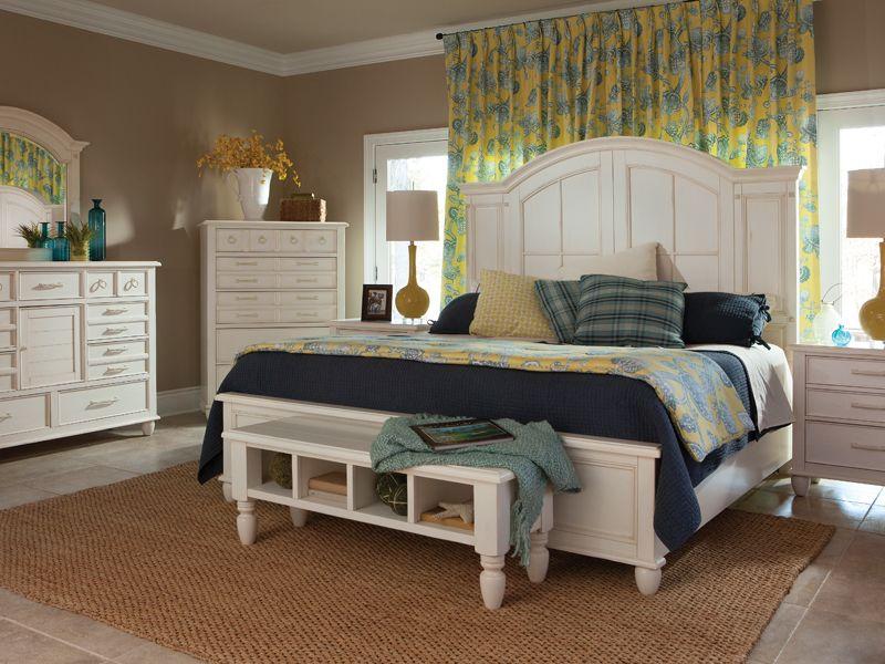 Carolina Preserves By Klaussner Sea Breeze Island Bliss White California  King Panel Bed   Pilgrim Furniture City   Headboard U0026 Footboard Hartford,  ...