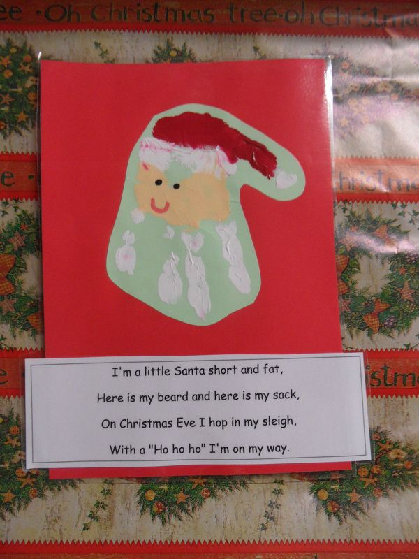 Handprint Santa And Poem Can Use The Peach Paper So You