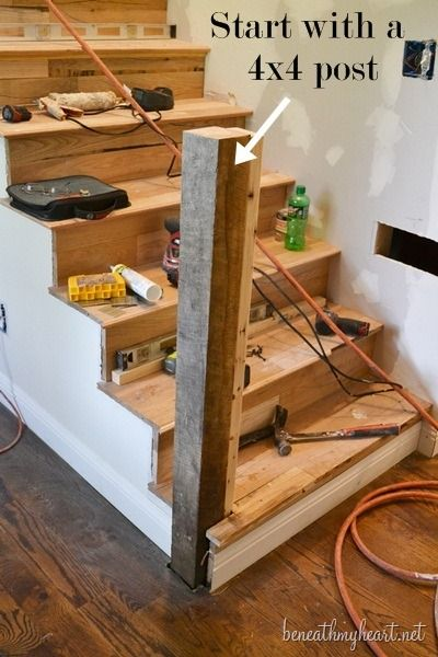 Best How To Build A Newel Post Stair Posts Staircase Remodel 400 x 300