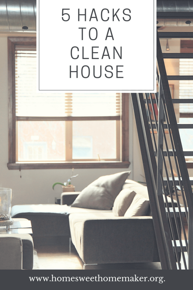 5 Simple Hacks For A Clean House Cleaning Pinterest Tips Home