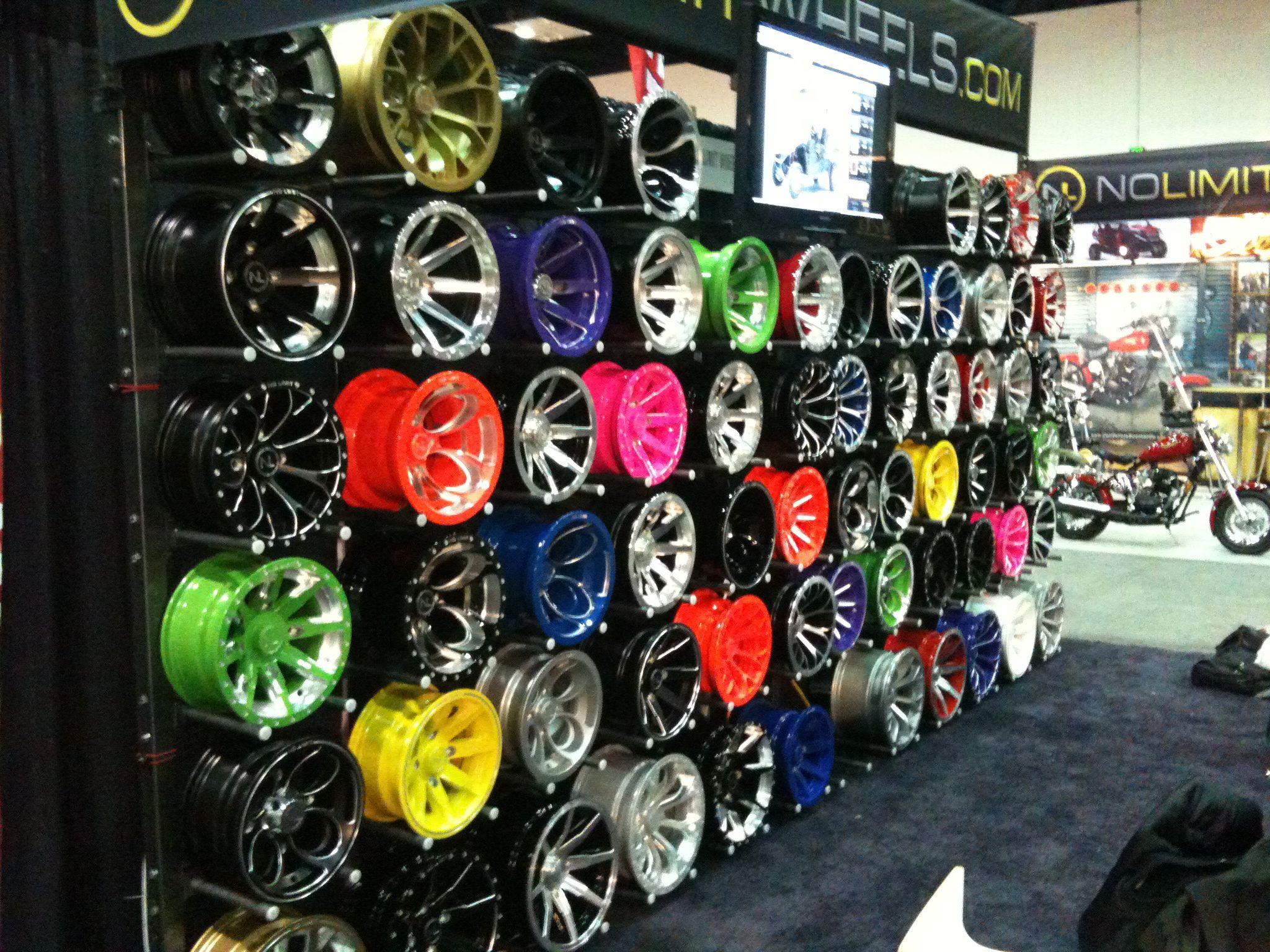 Dealer Expo 2011 - Wall of Wheels