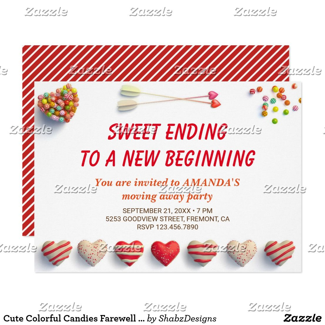 Cute Colorful Candies Farewell Party Invitation | Farewell parties ...