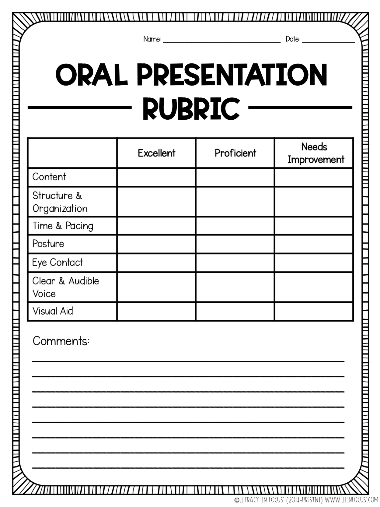 Free Oral Presentation Rubric Provide Your Students With Clear Grading Expectations For Their Next Presentati Presentation Rubric Rubrics Student Presentation
