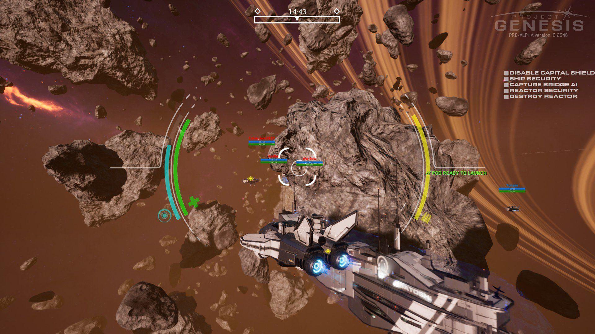 Project Genesis Mixes FPS Combat with Intense Ship Battles