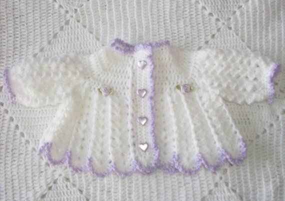 538545ca3 Crochet Baby Girl Sweater Set
