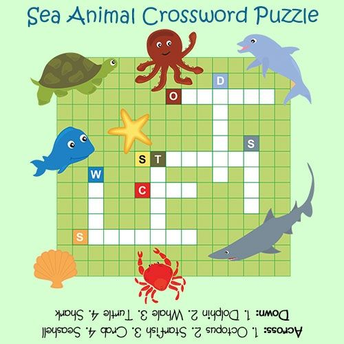 Sea Animal Crossword Puzzle