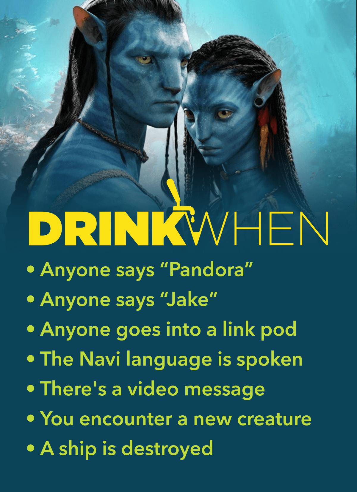 Avatar (2009) Drinking Game in 2020 Drinking games