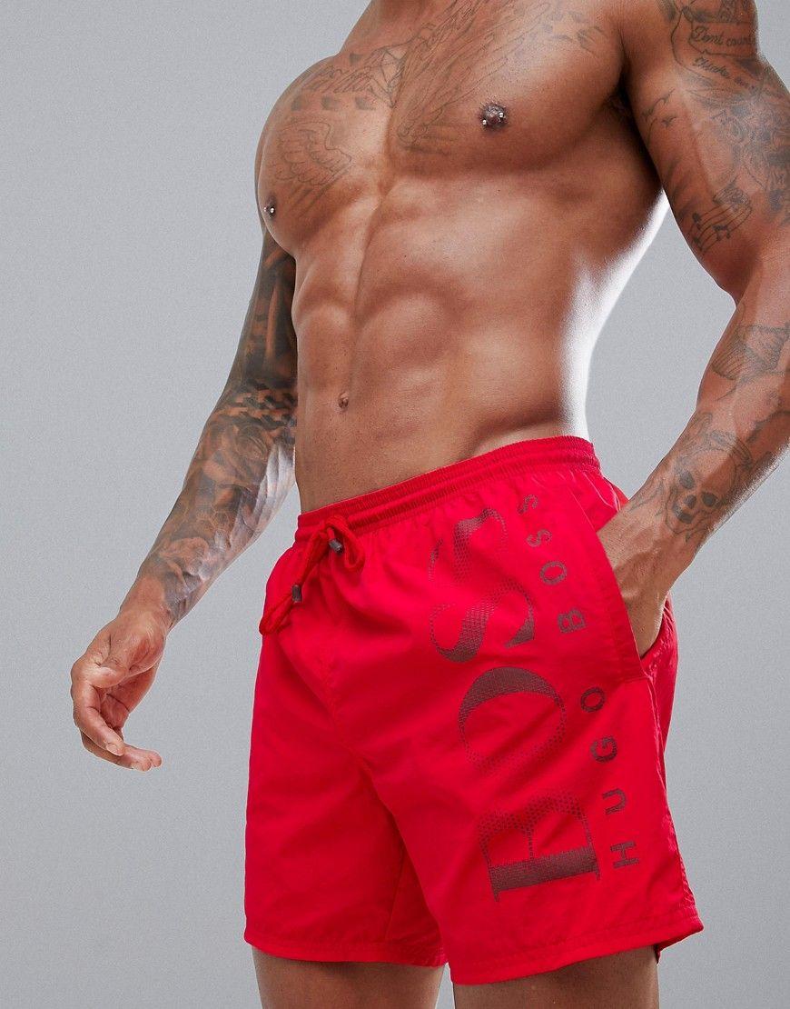 dce81db04 BOSS OCTOPUS SWIM SHORTS - RED. #boss #cloth # | Boss | Swim shorts ...