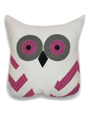 Thro by Marlo Lorenz Tootsie Applique Owl Pillow