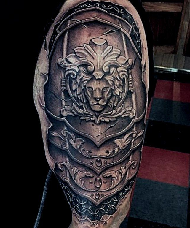 Armour Tattoo, Tattoos, Shoulder
