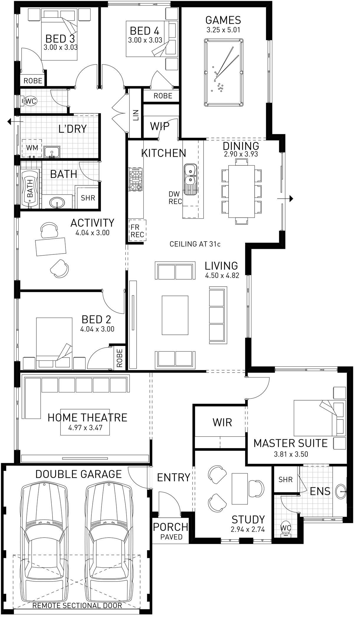 Cable Beach Single Storey Foundation Floor Plan Wa