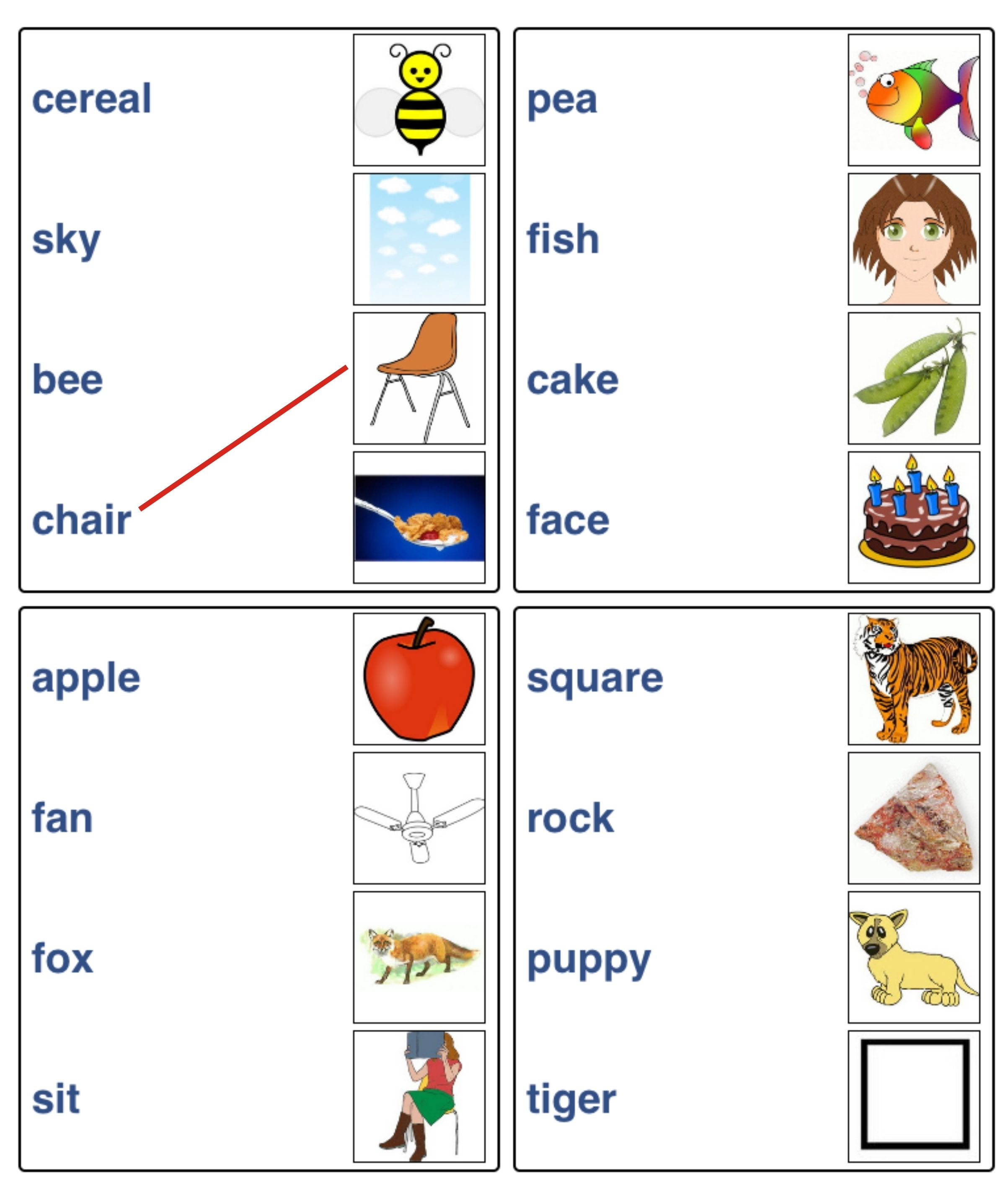 Kids Activity Match The Pictures