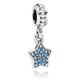03c160ad9 Pandora Blue Pavé Star CZ Dangle Charm | Bling | Pandora charms ...