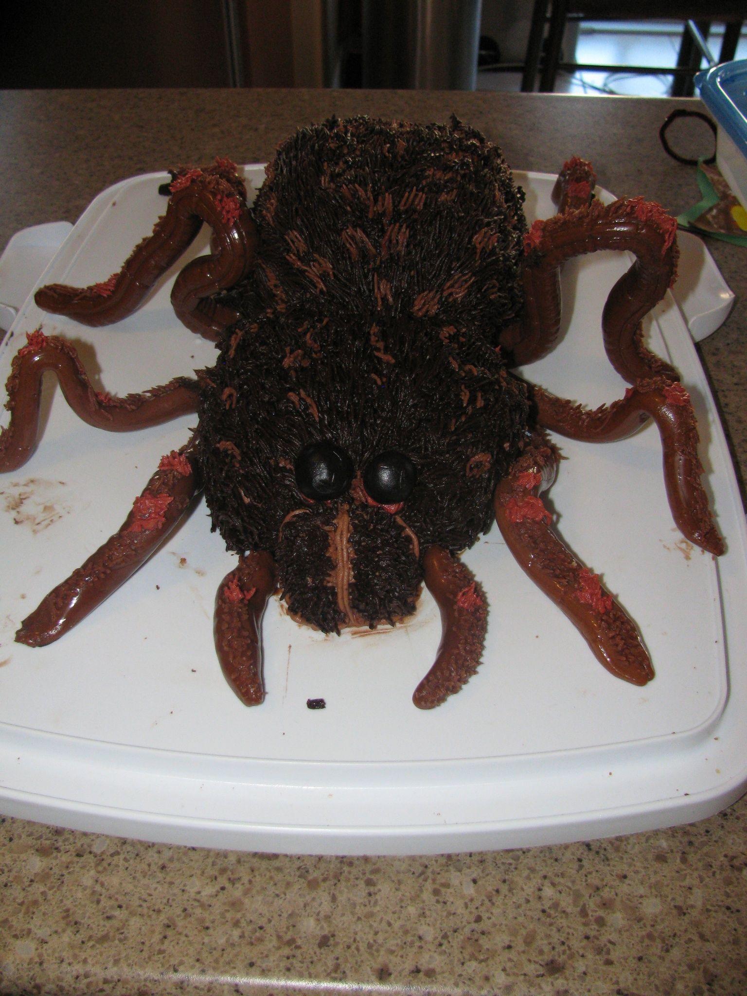 Creepy Spider cake   Spider cake, Halloween party, Creepy ...