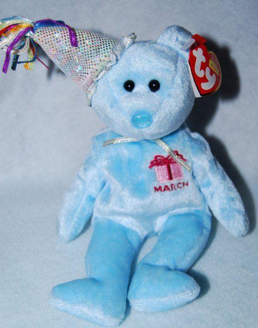 Alaska Stuffed Animals, Ty Beanie Babies March The Teddy Birthday Bear 8 94 Prime Mint Baby Beanie Happy Birthday Bear Ty Beanie