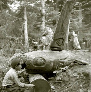 Whale Memorial, Old Kasaan, 1940