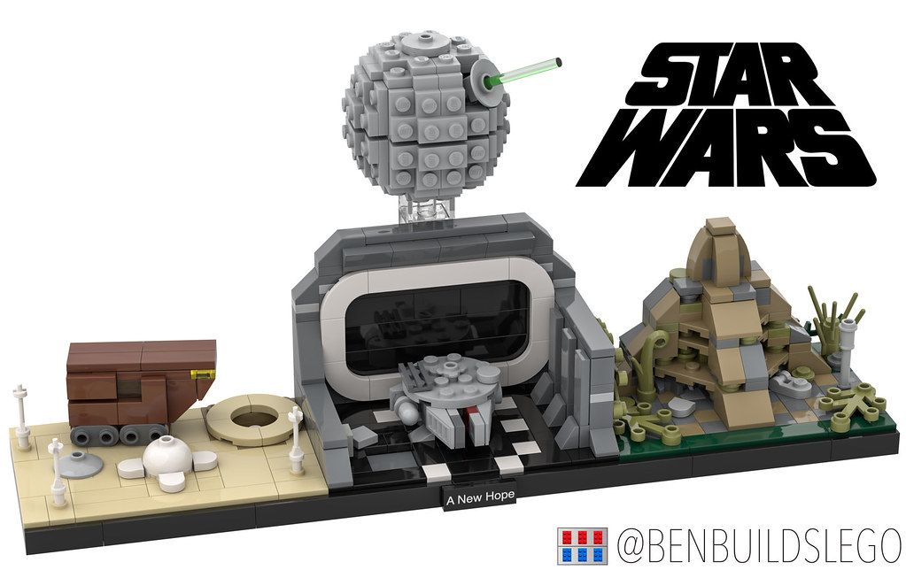 The Post Lego Star Wars A New Hope Skyline Moc Appeared First On Moc Builder Lego Star Wars Mini Micro Lego Lego Star Wars