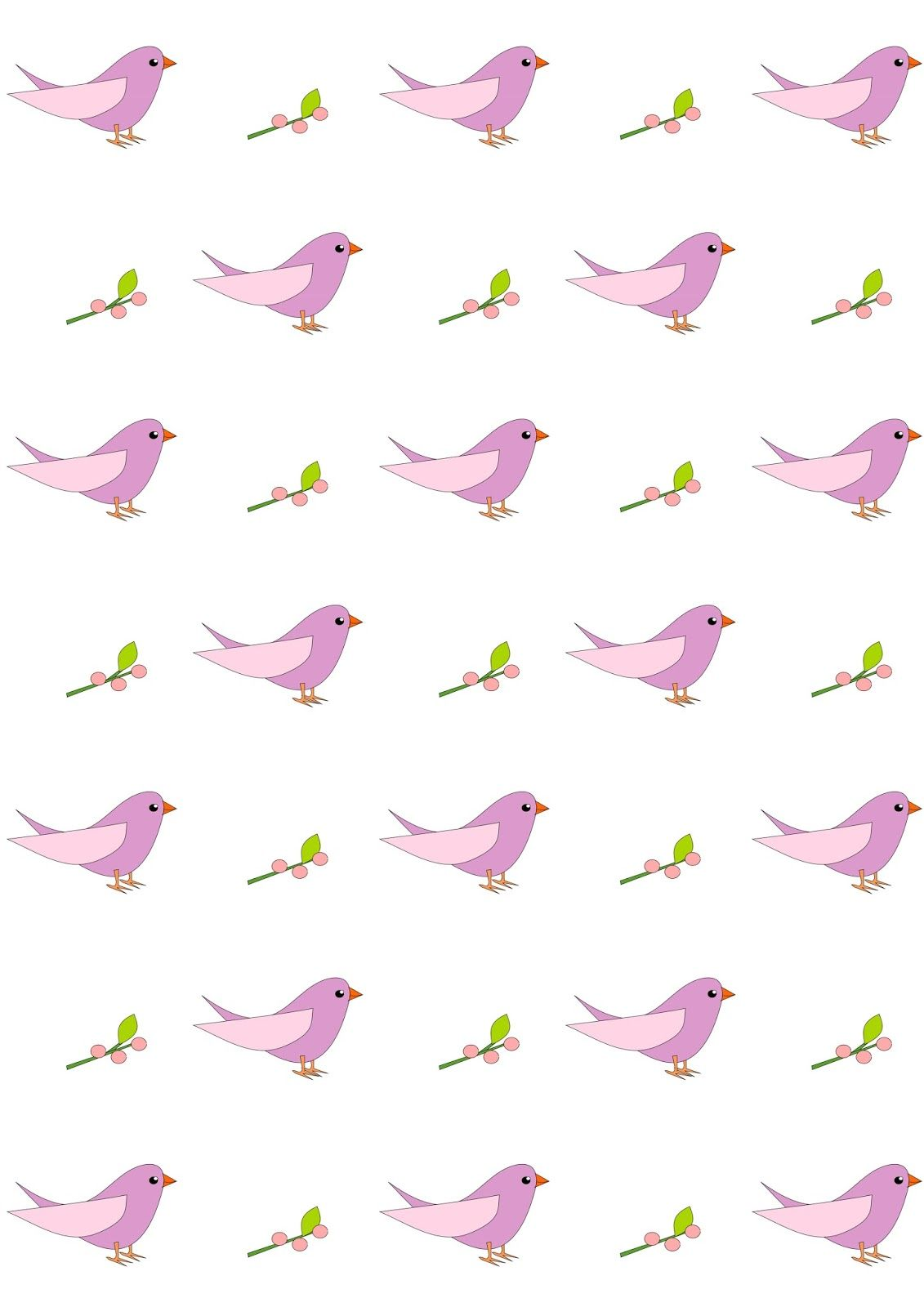 Free Digital Nursery Bird Scrapbooking Paper