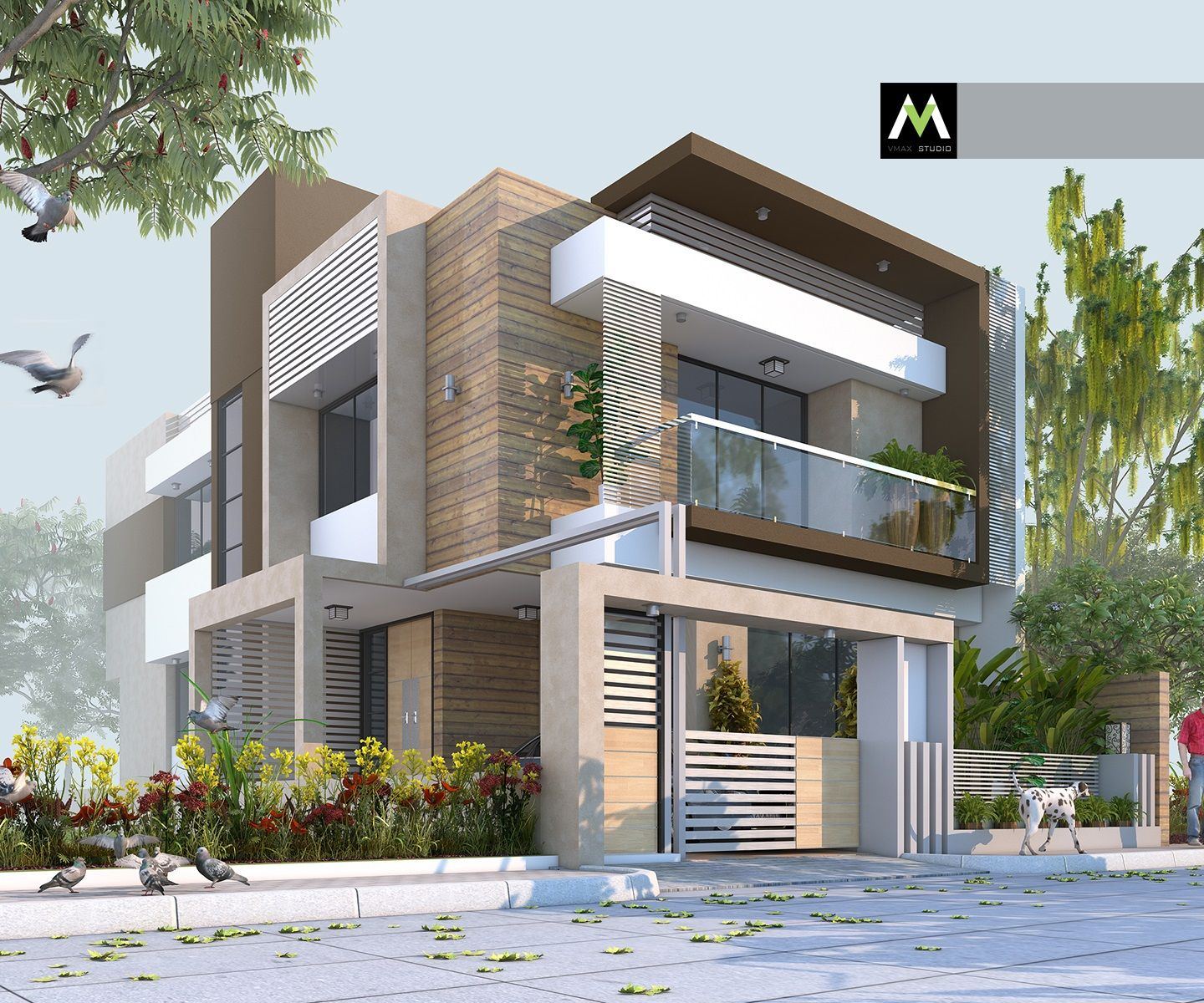 Modern Residential Exterior By Ar Sagar Morkhade: Pin By VMAX STUDIO On My Work