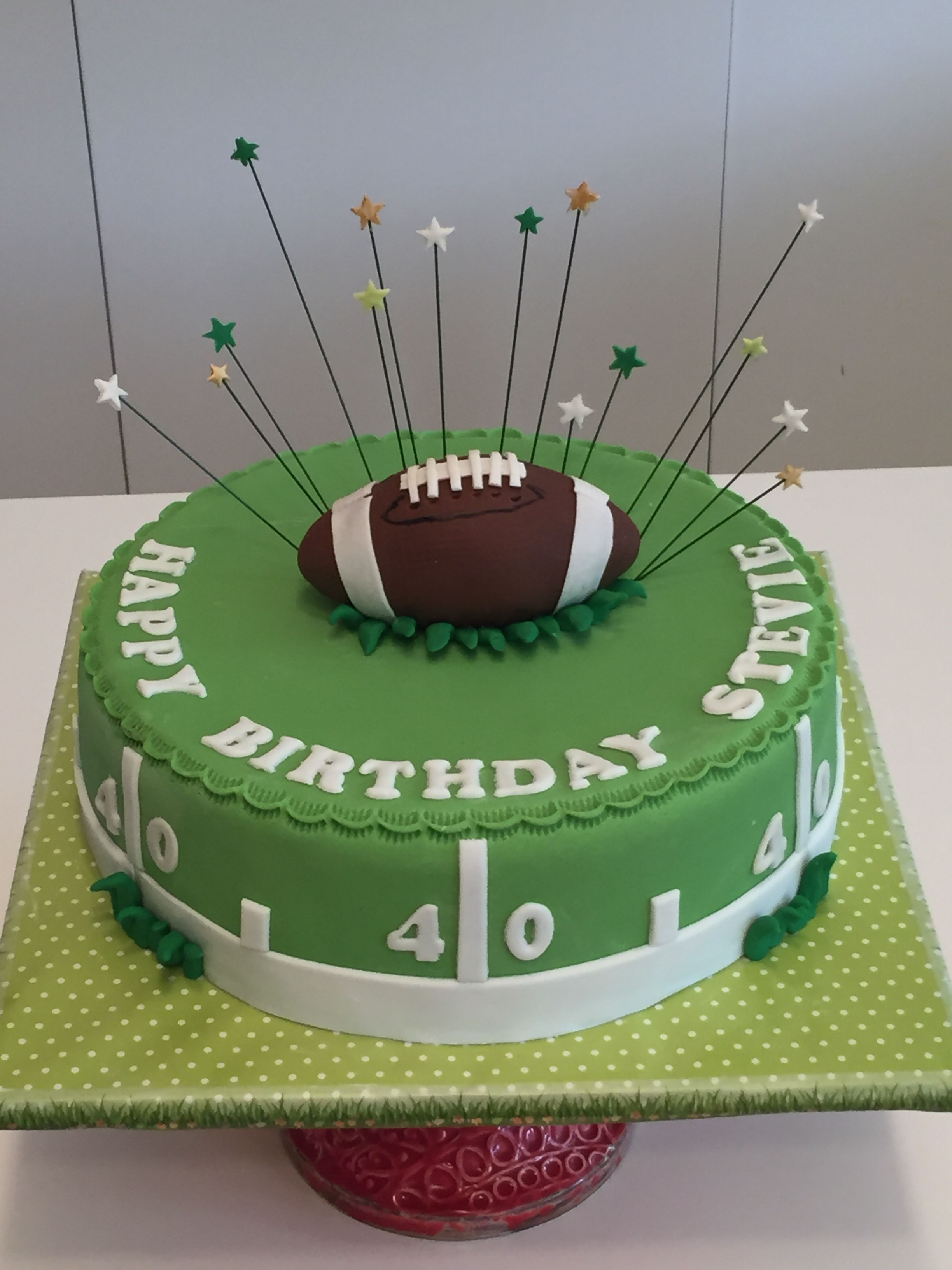 American Football Cake With Images Football Birthday Cake