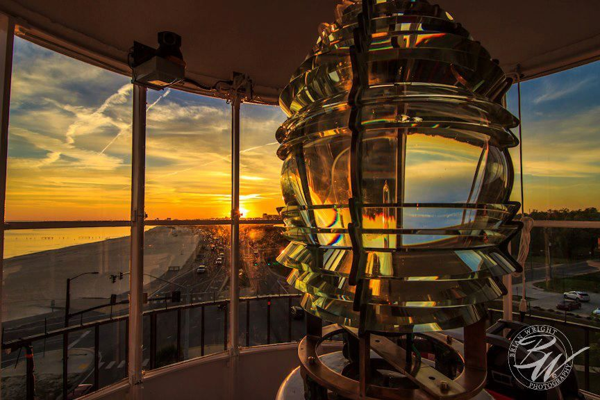 View Of The Sunset From The Inside Of The Biloxi Lighthouse Http