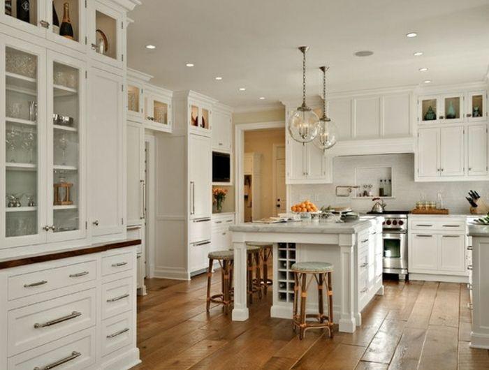 53 variantes pour les cuisines blanches! - cuisine ilot central conforama
