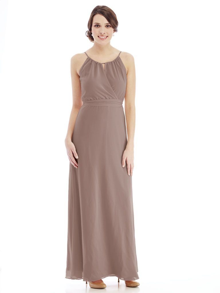 Joanna august blair long long bridesmaid dresses bridal gowns a long chiffon joanna august bridesmaid dress that drapes effortlessly from the elastic waist ombrellifo Gallery