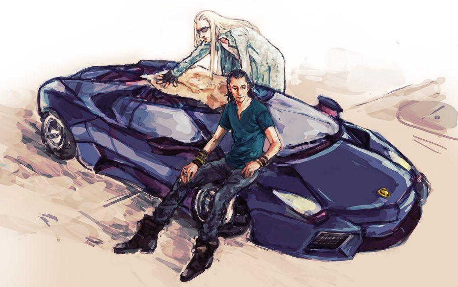 Loki, Thranduil & Lamborghini