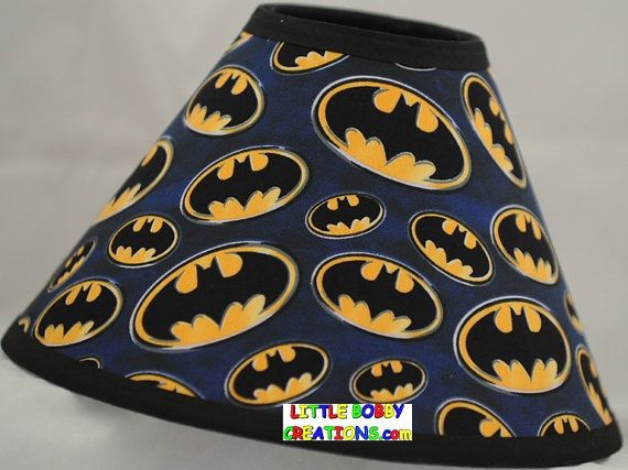 Super Heros Batman Fabric Lamp Shade You by LittleBobbyCreations ...
