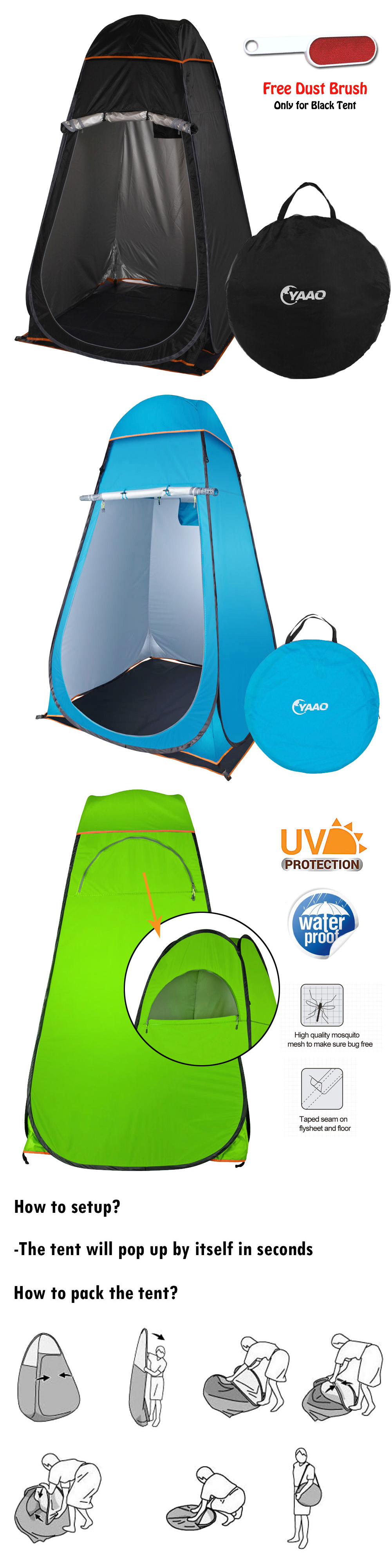 Tents 179010: Portable Pop Up Changing Room Privacy Toilet Shower ...