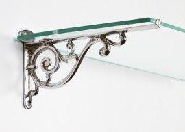 luciano ornate scroll bracket 12 x 21cm in 2020 glass on wall brackets id=76877
