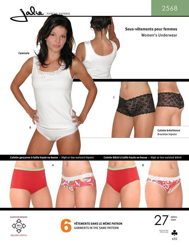 88ccc746f Jalie 2568 Misses   Girls Underwear - Camisole   Panties Sewing Pattern 27  Sizes