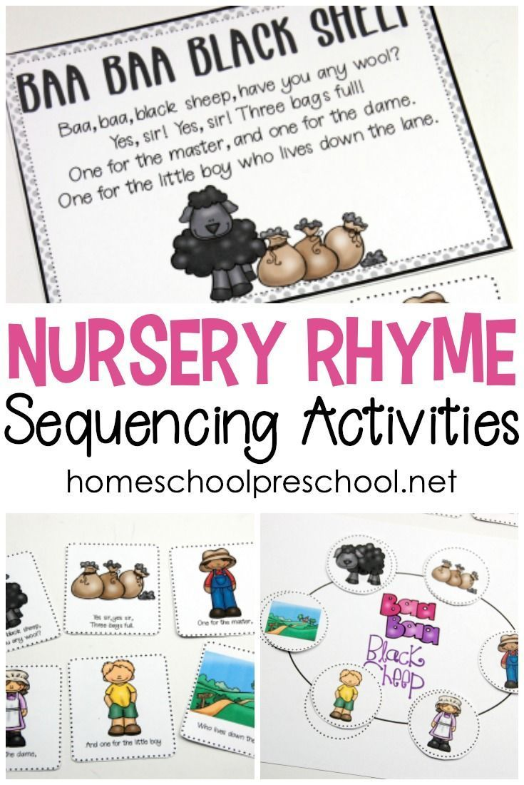 Free Printable Nursery Rhyme Sequencing Cards and Posters ...