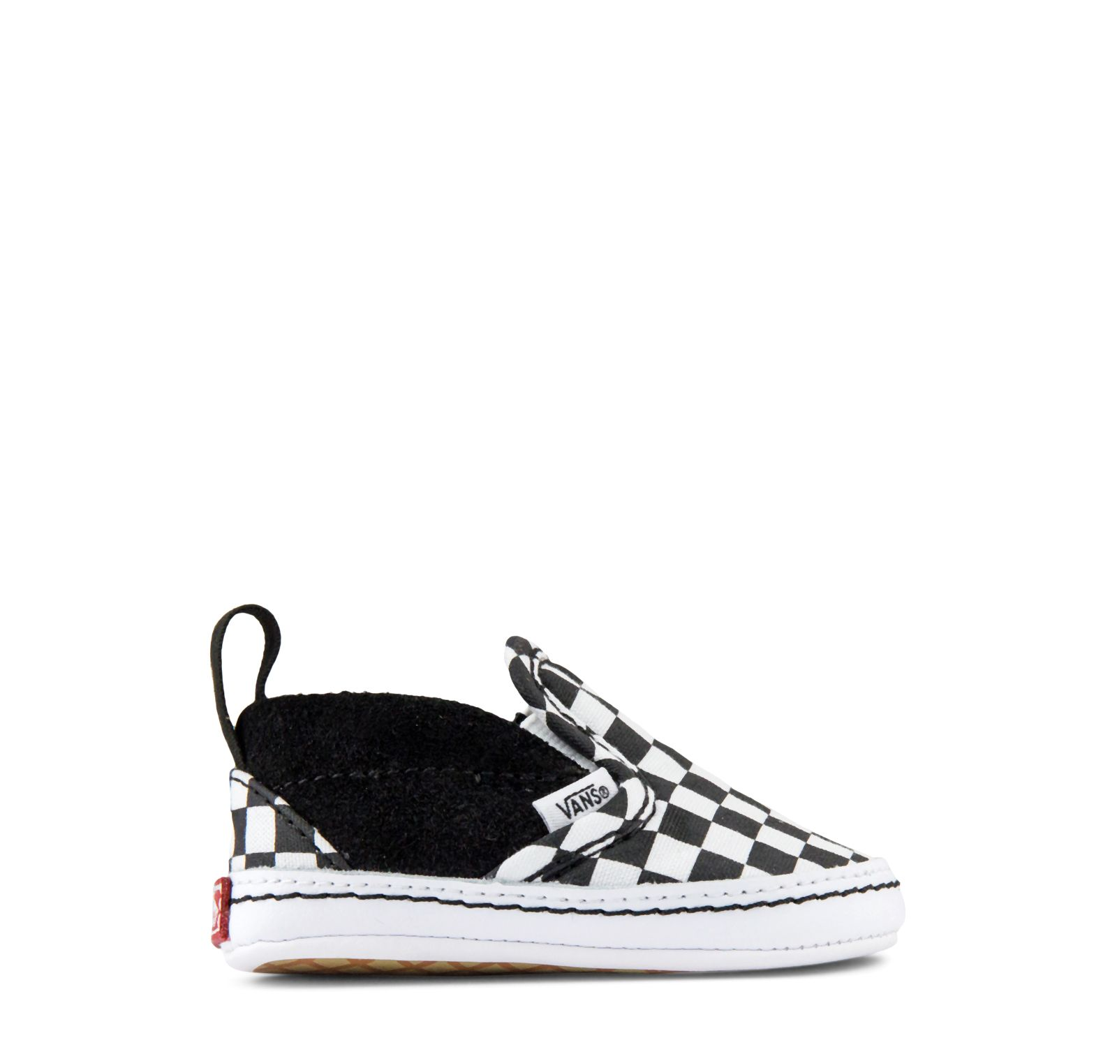 576afc1ab3 Vans Infant Checker Slip-On V Crib in Black and White
