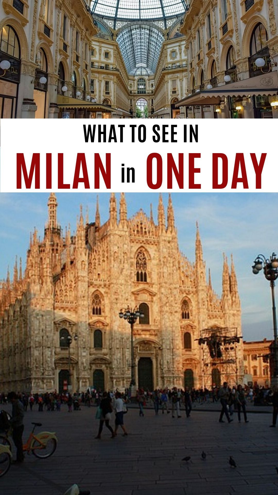 What can you see in Milan in one day? See Milan's most famous sites, taste Milan's glorious food and go shopping all in the same day with our FREE guide to a day in Milano #Italy #Travel #Milan #Milano