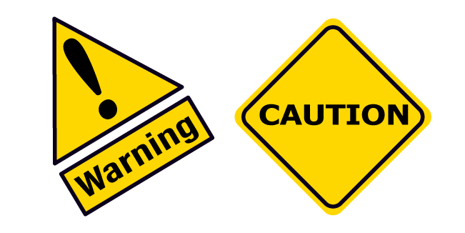Warning And Caution Road Sign Road Signs Signs Caution