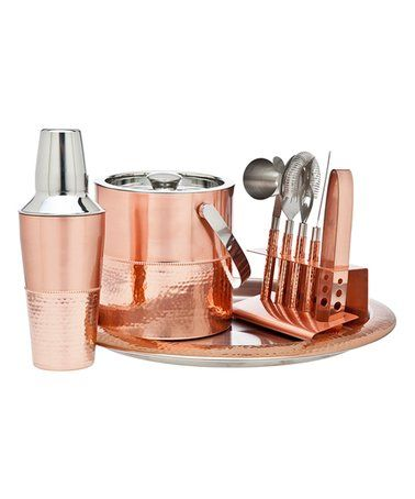 Inspirational Godinger Hammered Stainless Steel Bar Set
