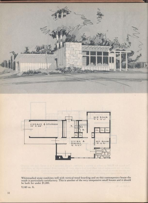 Houses For Home Makers Mid Century Modern House Vintage House Plans House Plans