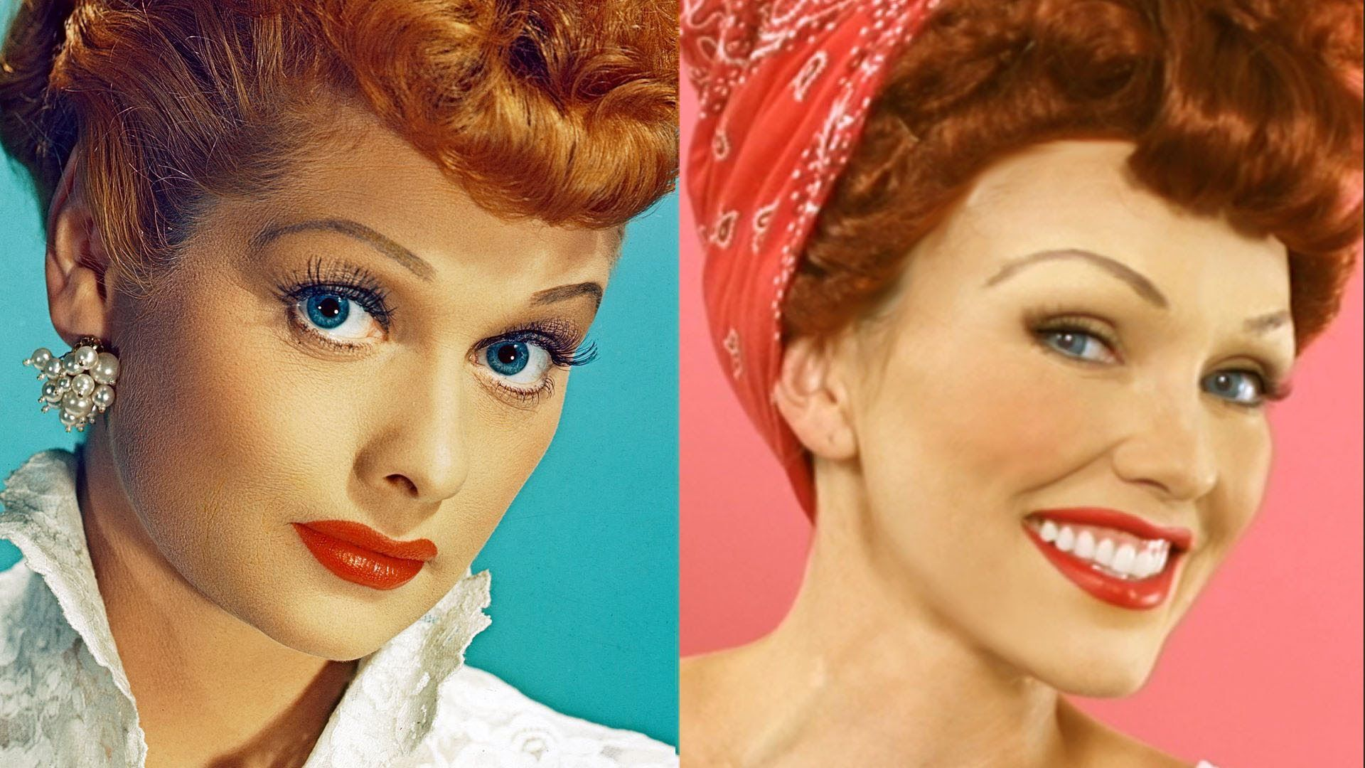 Lucille Ball ( I love Lucy) Makeup Tutorial costume