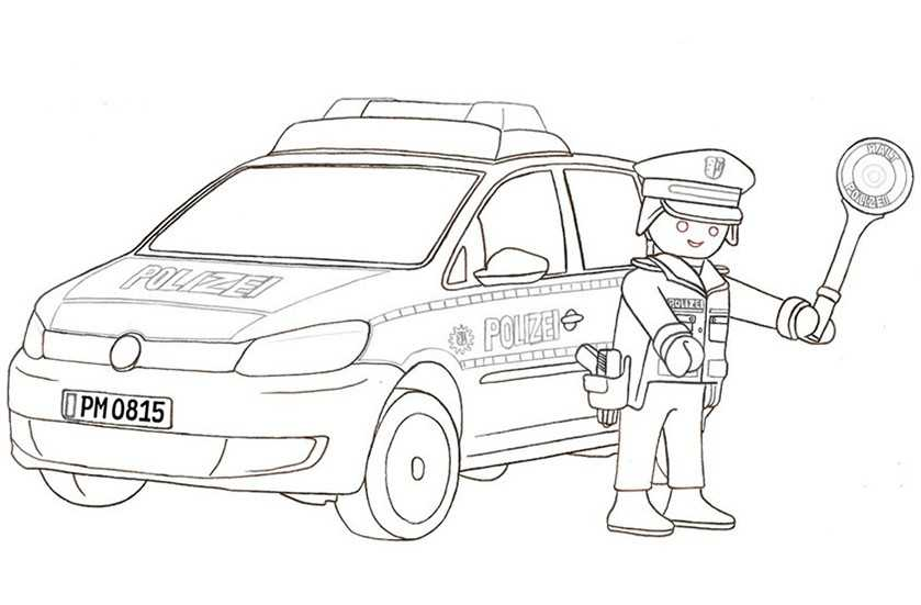 ausmalbilder polizei playmobil  kinder ausmalbilder