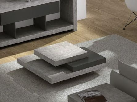 Layered Concrete Coffee Table